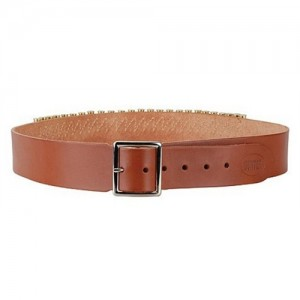 Hunter Company Wide Cartridge Belt in Brown Smooth Leather - Large