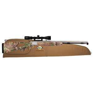 "CVA PR2028SSC Break Open 50 Black Powder 26.0"" None, 3-9x40mm Scope Syn Realtree Xtra Green Stk"