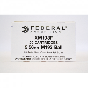 FEDERAL RIFLE 5.56X45MM 55 GR. FMJ BOAT TAIL CASE OF 25 BOXES  - 500 ROUNDS IN A CASE