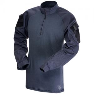 Tru Spec Combat Shirt Men's 1/4 Zip Long Sleeve in Navy - X-Large