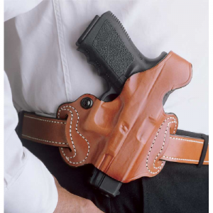 Desantis Gunhide Thumb Break Mini Slide Right-Hand Belt Holster for Kahr Arms K40 in Tan - 085TAK9Z0