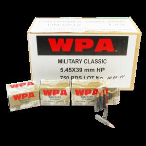 Wolf Performance Ammo Military Classic 5.45X39 Ballistic Silvertip, 55 Grain (750 Rounds) - MC545BSP