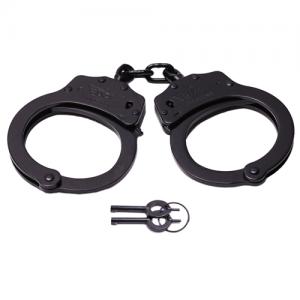 UZI Professional Grade Handcuffs, Black Finish - Meets NIJ Standards  Heavy duty stainless steel  Double locking mechanism  2.5 mm  20 locking positions  2 keys included  Uses standard handcuff keys