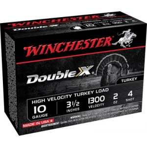 "Winchester Supreme Double X Turkey .10 Gauge (3.5"") 4 Shot Lead (10-Rounds) - STH104"