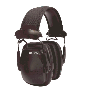Howard Leight 1030110 Sync Stereo Earmuff Black Clamshell Pkg