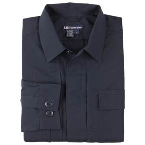 5.11 Tactical Taclite TDU Men's Long Sleeve Shirt in Dark Navy - 2X-Large