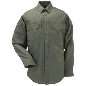 5.11 Tactical Taclite Pro Men's Long Sleeve Uniform Shirt in TDU Green - Large