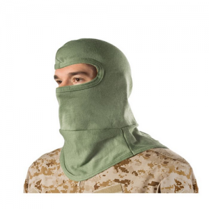 HellStorm  Balaclava -Bibbed w  Balaclava 3oz 18  w/Nomex, Foilage Green, Flame/flash protection for the head and neck, Constructed entirely of DuPont NOMEX fabric, Will not support flame or combust up to 800  F (427 C), Flat-seam stitching wont irritate