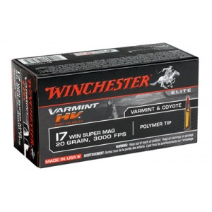Win Ammo S17W20 17 Win Super Mag 20GR 50Bx/10Cs High Velocity