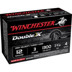 "Winchester Supreme Double X Turkey .12 Gauge (3"") 4 Shot Lead (10-Rounds) - STH1234"