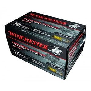 Winchester .22 Long Rifle Power-Point, 42 Grain (50 Rounds) - PP22LRH42U