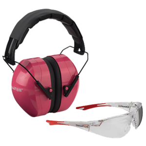 Champion Targets 40624 Eyes And Ears Earmuffs/Shooting Glasses Clear/Pink