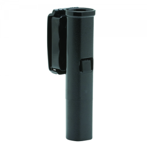 LOW SWIVEL FRONT DRAW  Made from durable polycarbonate, all Front Draw holders feature a molded tension spring for baton security. The design is comfortable to wear and offers a quick draw from any position.The holder rotates in 360 degrees and locks in o