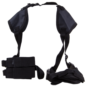 "Bulldog WSHD7 Deluxe Shoulder Harness Fits Most Standard Autos w/2-4"" Barrel Beretta; Glock; HK; Sig; S&W Nylon Black - WSHD7"