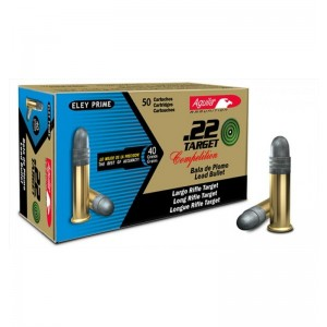 Aguila Target .22 Long Rifle Lead Round Nose, 40 Grain (1000 Rounds)