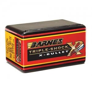 Barnes .264 Cal 130 Grain Triple-Shock X Flat Base Bullet 50/Box 26442