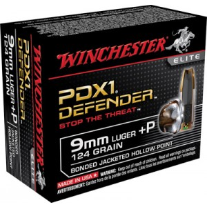 Winchester Elite 9mm Bonded PDX, 124 Grain (20 Rounds) - S9MMPDB