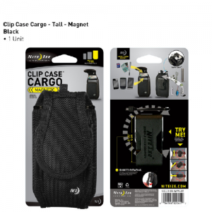 Clip Case Magnet Color: Black Size: Tall