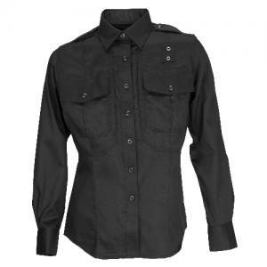 5.11 Tactical PDU Class B Women's Long Sleeve Uniform Shirt in Black - X-Large