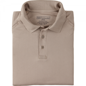 5.11 Tactical Performance Men's Short Sleeve Polo in Silver Tan - Large