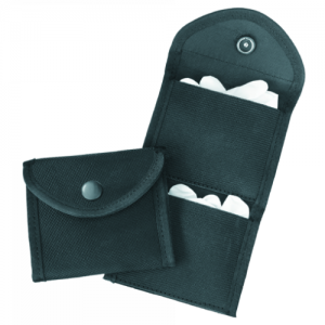 Two Pocket Glove Case  Two Pocket Glove Case Black Ballistic Nylon Finish Place on belt up to 2-1/4 in. or slide into pants pocket.