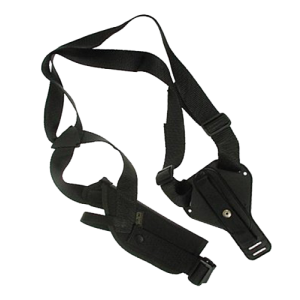 "Uncle Mike's Sidekick Right-Hand Shoulder Holster for Medium/Large Double Action Revolver in Black (7"" - 8"") - 85041"