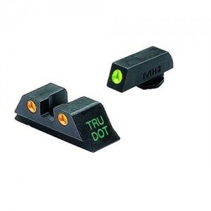 Meprolight Green Front/Orange Rear Tru-Dot Fixed Sights For Glock 9MM/40 Caliber 10224O