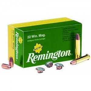 Remington 22 Winchester Magnum Rimfire 40 Grain Pointed Soft Point, 50 Round Box, R22M2