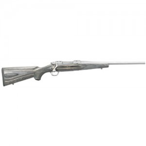 "Ruger M77 Hawkeye Compact .243 Winchester 4-Round 16.5"" Bolt Action Rifle in Matte Stainless - 17108"