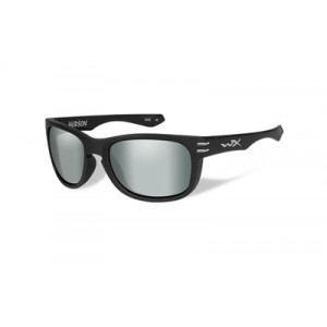 Wiley X Hudson, Sunglasses, Matte Black Frame, Polarized Smoke Green Lens, Ansi Approved Achud05