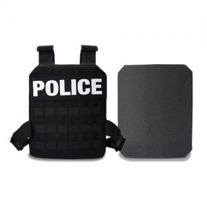 Black, Active Shooter Kit | MOLLE Plate Harness, One 10x12  Level IV Plates, Carry Bag