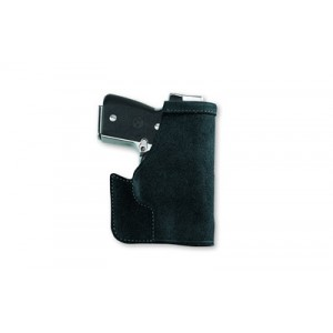 Galco International Pocket Protector Right-Hand Pocket  Holster for Smith & Wesson M&P Shield in Black Suede Steerhide Center Cut - PRO652B
