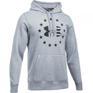 Under Armour Freedom BFL Rival Men's Pullover Hoodie in True Gray Heather - 2X-Large