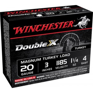 "Winchester Supreme XX Turkey .20 Gauge (3"") 4 Shot Lead (10-Rounds) - X203XCT4"