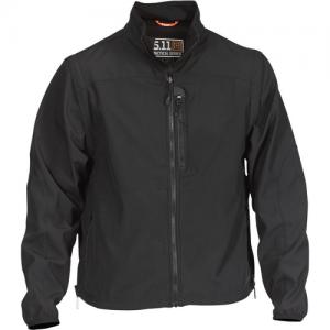 5.11 Tactical Valiant Softshell Men's Full Zip Jacket in Black - Medium
