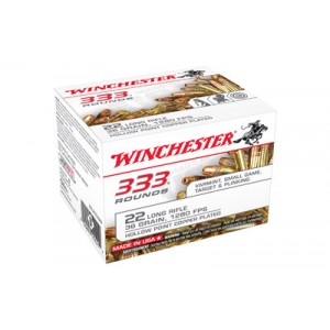 Winchester .22 Long Rifle Hollow Point, 36 Grain (333 Rounds) - 22LR333HP