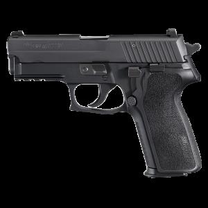 "Sig Sauer P229 Compact MA Compliant .357 Sig Sauer 10+1 3.9"" Pistol in Black Nitron (SIGLITE Night Sights) - 229RM357BSS"