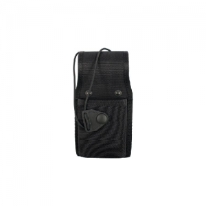 Universal  Radio Case  Universal  Radio Case Black Ballistic Nylon Finish Case is 1-1/2 in. D x 2-3/4 in. W x 7-1/2 in. H. Elastic cord with Non-glare black snap closure adjusts to hold radios of various heights. Holds most popular radios.