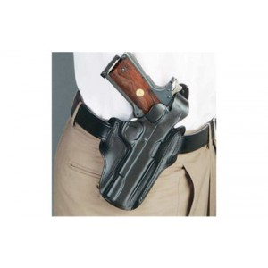 "Desantis Gunhide 1CL Scabbard Left-Hand Belt Holster for 1911 Officer's in Black Leather (3.5"") - 1CLBA79Z0"