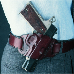 Galco International Quick Slide Right-Hand Belt Holster for Beretta Elite 1A in Havana - QS202H