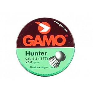 Gamo Hunter .177 Pellet, Round Nose, 250 Per Pack 632082454
