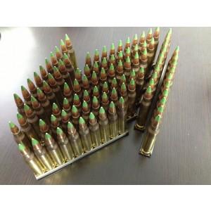 Federal Cartridge .223 Remington/5.56 NATO Full Metal Jacket Green Tip, 62 Grain (100 Rounds) - M855-100