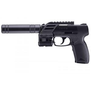 "Rws/umarex Tdp 45 Tactical, 177 Pellet, 4.25"" Barrel, Black Finish, Polymer Frame, Picatinny Rail Mount, Red Laser Sight, 19rd, 410 Feet Per Second 2254822"