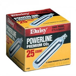 Daisy 25 Count CO2 Cylinders 7025