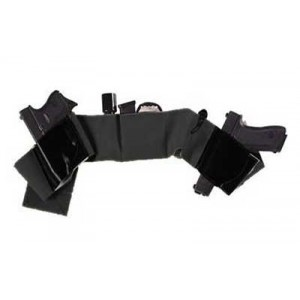 Galco International Belly Band Right-Hand Belly Holster for Most Handguns in Black - UW-BK-XL