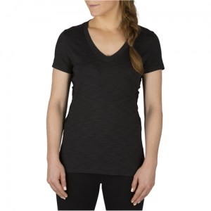 5.11 Tactical Zig Zag V-Neck Women's T-Shirt in Black - Small