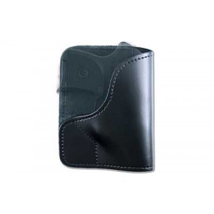Desantis Gunhide 21 Trickster Right-Hand Belt Holster for Keltec P-3AT/Ruger LCP in Black Leather (W/ Crimson Trace) -