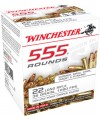 Winchester 555 .22 Long Rifle Copper Plated Hollow Point, 36 Grain (5550 Rounds) - 22LR555HPCS