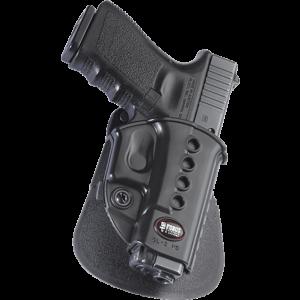 Fobus USA Roto Evolution Left-Hand Paddle Holster for Glock 17, 19, 22, 23, 34, 35 in Black - GL2E2RPL
