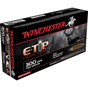 Winchester Supreme .300 Winchester Short Magnum E-Tip Lead-Free, 180 Grain (20 Rounds) - S300SET
